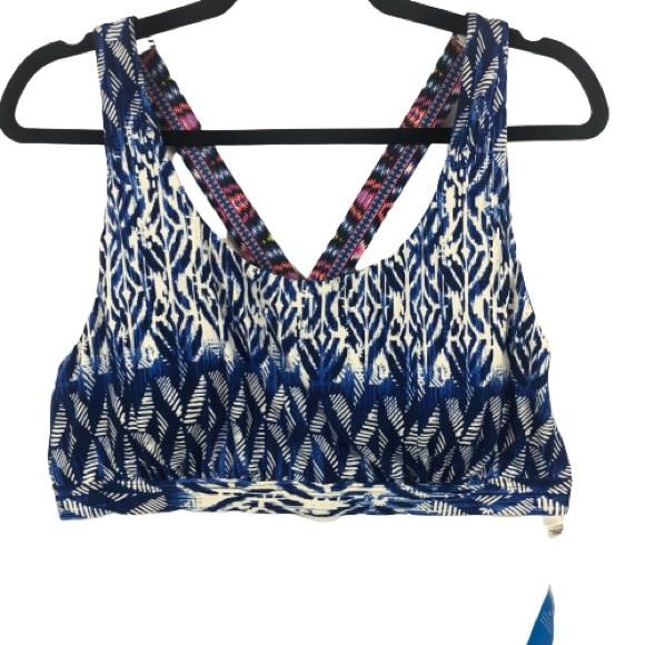 La Vie En Rose Aqua D+ Bikini Swim Top in Blue